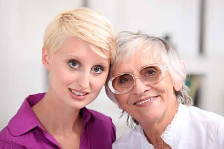 Woman with her mother Stock Photo - 15175487