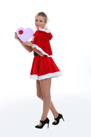 Sexy woman dressed as Mrs  Claus Stock Photo - 15174461