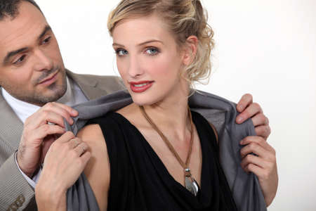 Well-dressed couple Stock Photo - 15175488