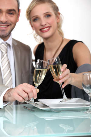 marrage: Couple celebrating their anniversary in style Stock Photo