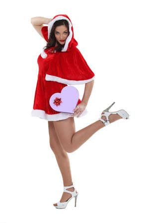 Sexy woman dressed as Mrs  Claus Stock Photo - 15174488