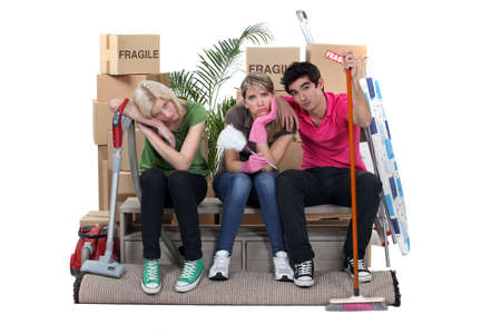 roommates: Roommates exhausted on moving day