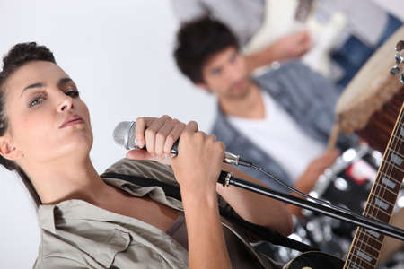 Singer in a rock band Stock Photo - 15225234