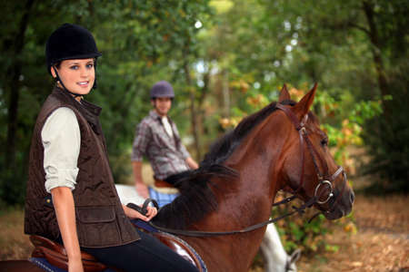 parapente: Un jinete a caballo Foto de archivo
