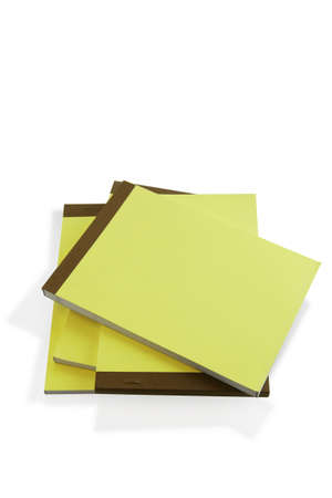 clinch: Pile of paper note pads