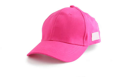 pink hat: Pink baseball cap Stock Photo