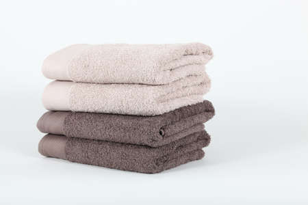 neatly: Neatly folded towels