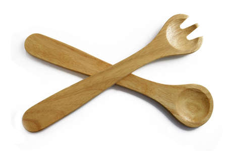 chiseled: Wooden fork and spoon