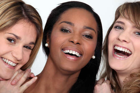 Laughing young women photo