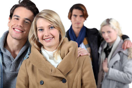 friends hanging out Stock Photo - 15234411