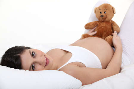 reproduction: Pregnant woman resting Stock Photo