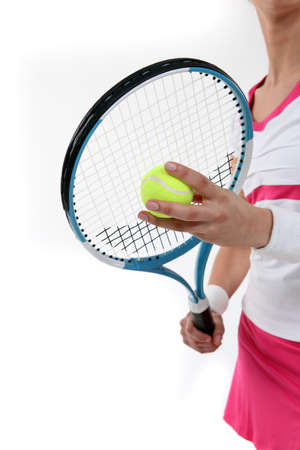 wristbands: Tennis racket Stock Photo