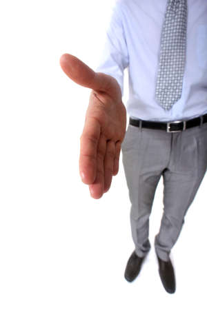 Businessman offering to shake-hand Stock Photo - 15224314
