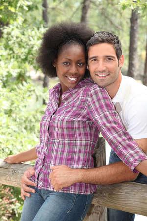 portrait d'un couple outdoors