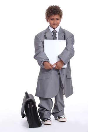 kids dress: Little boy dressed in business suit