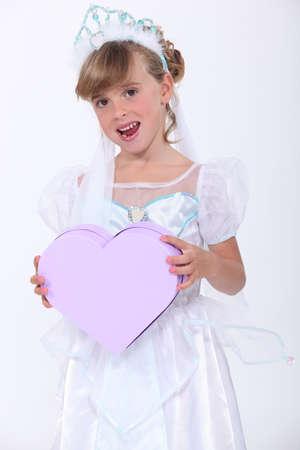 make belief: Child pretending to be a princess