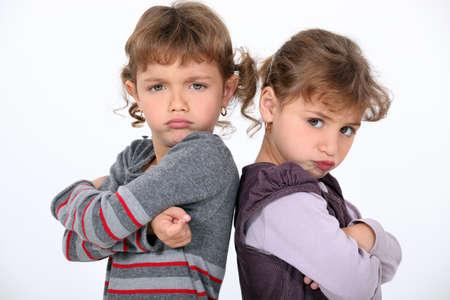 brawl: Angry Girls Stock Photo