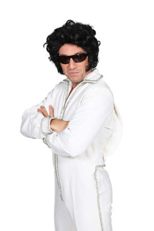 Man dressed up in an Elvis costume Stock Photo - 15233047