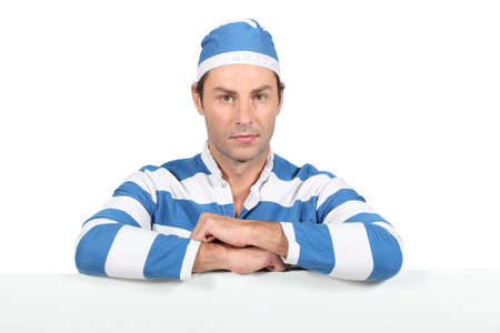 Man in prisoner outfit Stock Photo - 15228550