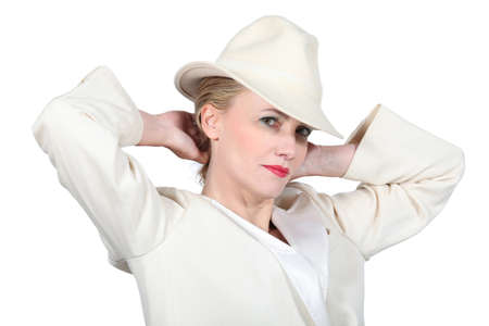 Woman with white suit Stock Photo - 15233382