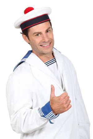 medium body: Portrait of a sailor Stock Photo