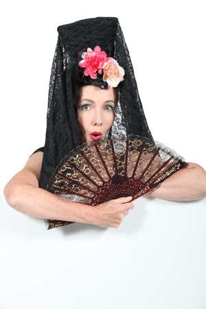 bailarina de flamenco: Mujer española Foto de archivo