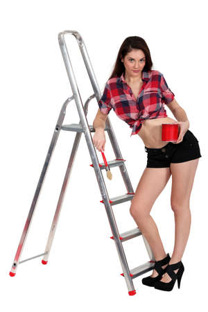 sexy female painter photo