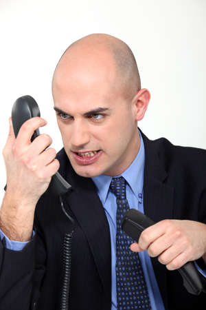 fueled: Furious man on the phone