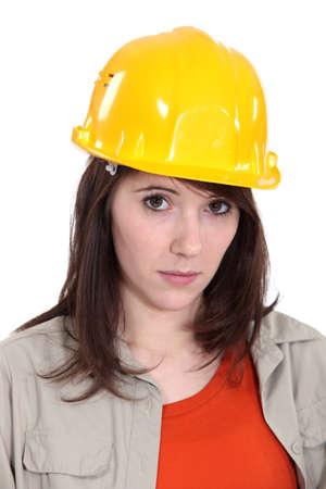 Portrait of female worker photo