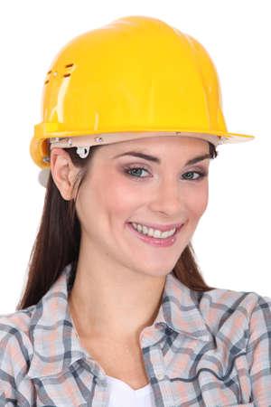 craftswoman: portrait of happy craftswoman Stock Photo
