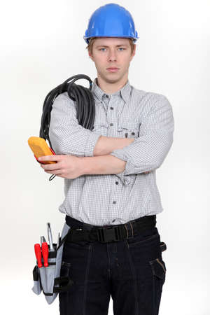 Electrician ready to start work Stock Photo - 15263368