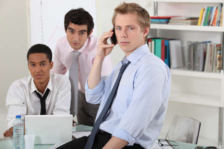 A businessteam working on a project Stock Photo - 15263293