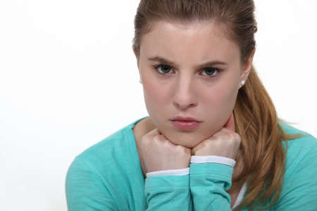 angst: Angst ridden teenage girl