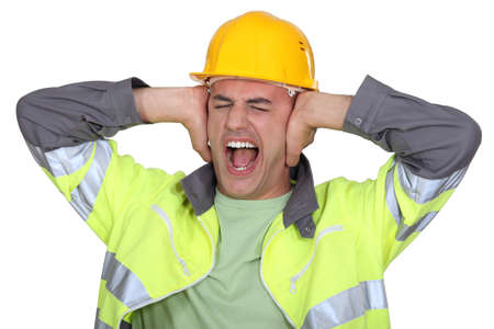 intolerable: Workers covered their ears