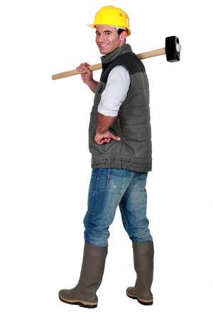 sledgehammer: Man with sledge-hammer