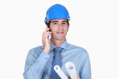 An architect over the phone Stock Photo - 15263684