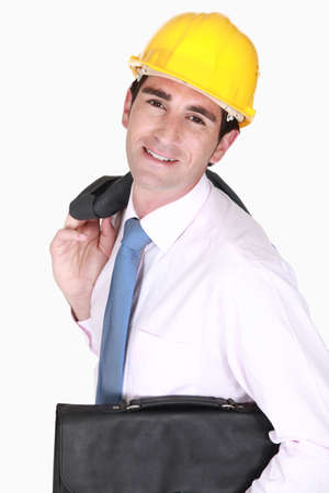 An architect with a briefcase Stock Photo - 15263745