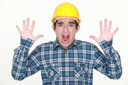 surrender: A frightened tradesman