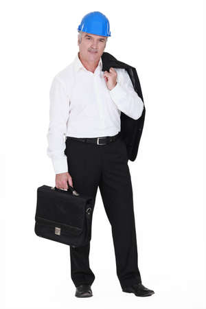 Confident architect with briefcase Stock Photo - 15263420
