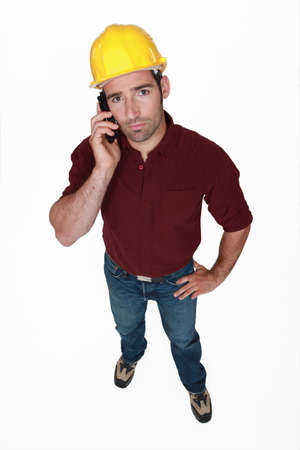 Seus construction worker on the phone Stock Photo - 15263464