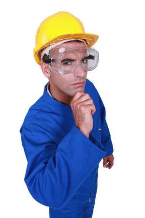 dubious: A dubious construction worker
