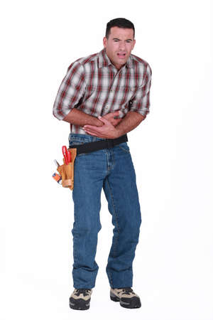 man having stomachache Stock Photo - 15263667