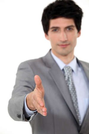 Executive shaking hands Stock Photo - 15263514