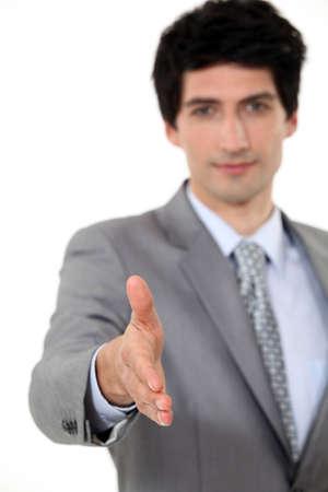 moles: Executive shaking hands