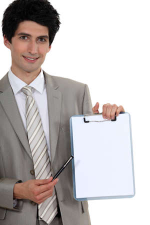 A businessman about to sign a contract Stock Photo - 15263846