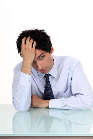 Bored young businessman Stock Photo - 15263762
