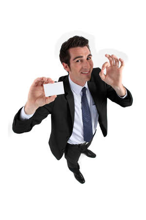 Man teaching card Stock Photo - 15263465