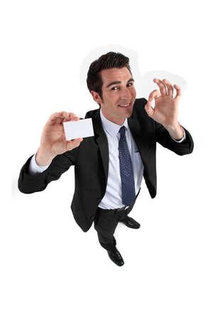 Man teaching card Stock Photo - 15263465