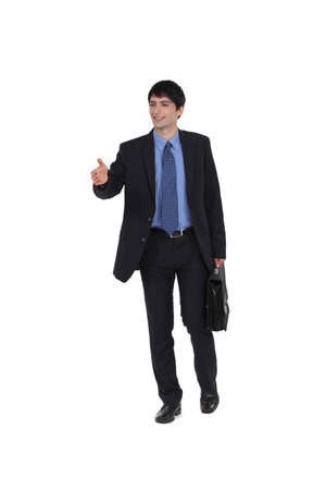 Businessman about to shake hand Stock Photo - 15263390