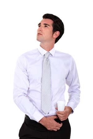 narcissism: Portrait of a self-assured businessman